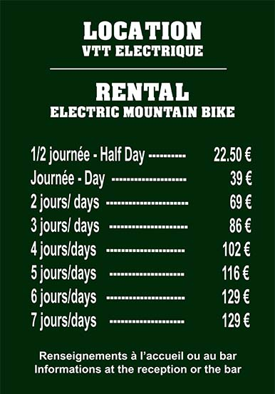 location velo au camping