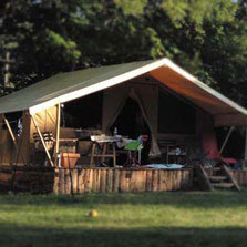 Bungalow toilé camping les chamberts